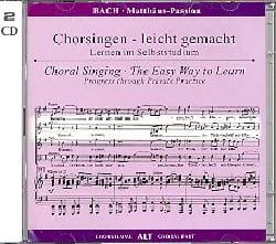 Passion selon Saint Matthieu BWV 244. 2 CD Alto CHOEUR laflutedepan