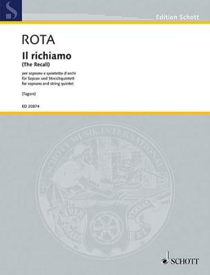 Il richiamo ROTA Partition Musique de chambre vocale - laflutedepan