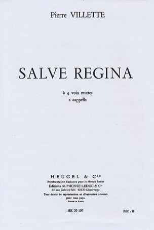 Salve Regina Pierre Villette Partition Chœur - laflutedepan