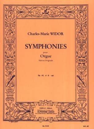 Symphonie n° 6 Opus 42 En Sol WIDOR Partition Orgue - laflutedepan