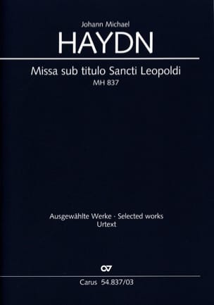 Missa Sub Titulo Santi Leopoldi Mh 837 Michael HAYDN laflutedepan