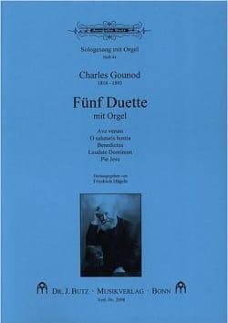 5 Duette Mit Orgel GOUNOD Partition Duos - laflutedepan