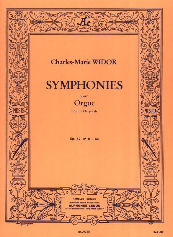 Symphonie n° 6 Opus 42 En Sol - WIDOR - Partition - laflutedepan.com