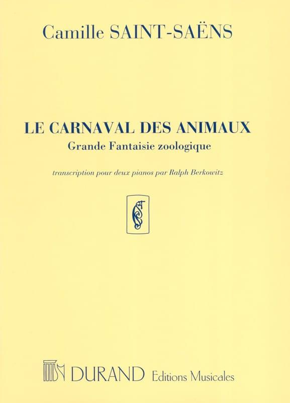 Le Carnaval des Animaux. 2 Pianos - SAINT-SAËNS - laflutedepan.com