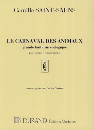 Le Carnaval des Animaux. 4 mains SAINT-SAËNS Partition laflutedepan