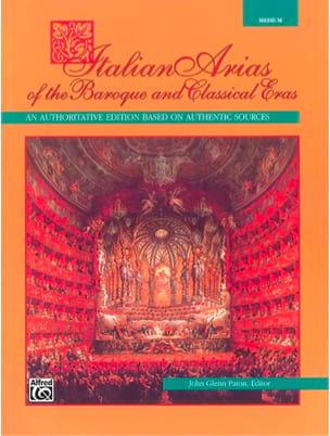 Italian Arias Of The Baroque And Classical Eras. Voix Moyenne - laflutedepan.com