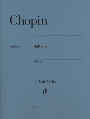 Ballades - CHOPIN - Partition - Piano - laflutedepan.com