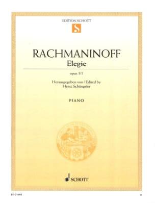 Elégie Opus 3-1 RACHMANINOV Partition Piano - laflutedepan