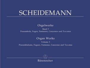 Oeuvre Pour Orgue Volume 3 Heinrich Scheidemann Partition laflutedepan