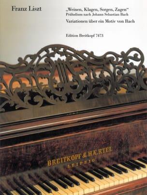 Weinen, Klagen, Sorgen, Zagen LISZT Partition Piano - laflutedepan