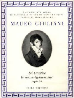 6 Cavatines Opus 39 Mauro Giuliani Partition Guitare - laflutedepan