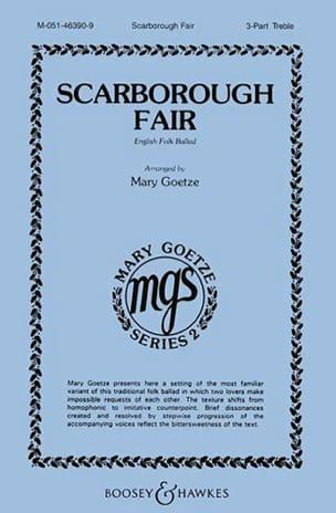 Scarborough Fair Anonyme Partition Chœur - laflutedepan