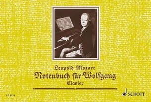 Notenbuch für Wolfgang Leopold Mozart Partition Piano - laflutedepan
