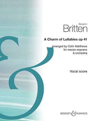 A Charm of Lullabies, op. 41 BRITTEN Partition Mélodies - laflutedepan