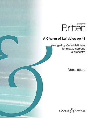 A Charm of Lullabies, op. 41 - BRITTEN - Partition - laflutedepan.com