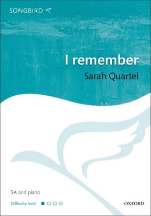 I Remember Sarah Quartel Partition Chœur - laflutedepan
