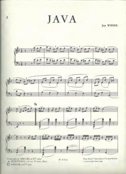 Java Jean Wiener Partition Piano - laflutedepan