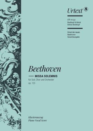 Missa Solemnis Opus 123 BEETHOVEN Partition Chœur - laflutedepan
