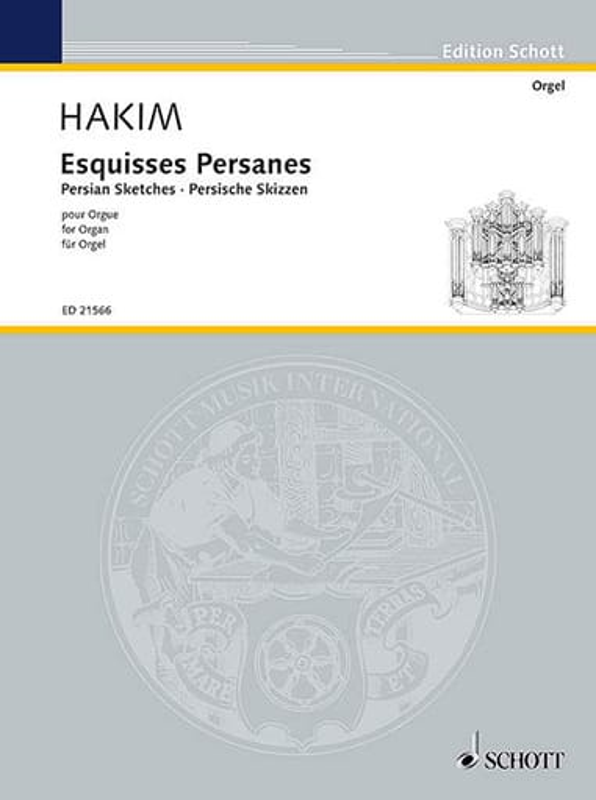 Esquisses Persanes - Naji Hakim - Partition - Orgue - laflutedepan.com
