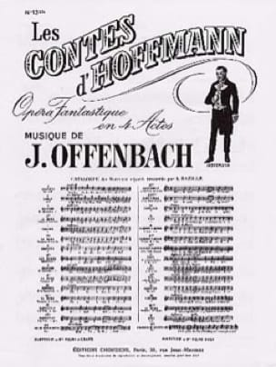 Barcarolle. Contes D'Hoffmann. N° 13 Bis - laflutedepan.com