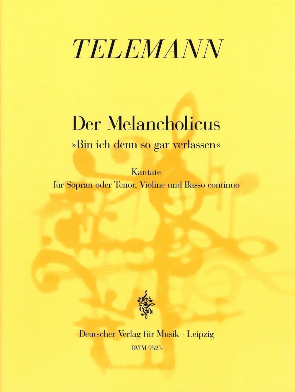 Der Melancholicus. Twv 20-44 - TELEMANN - Partition - laflutedepan.com