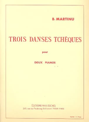 3 Danses Tchèques. 2 Pianos MARTINU Partition Piano - laflutedepan