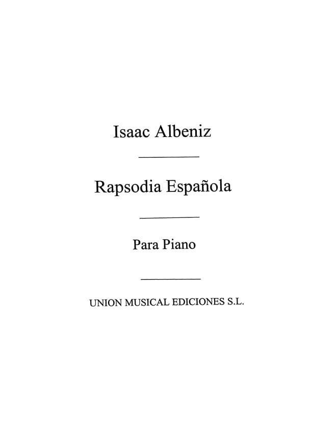 Rhapsodie Espagnole Op. 70. - ALBENIZ - Partition - laflutedepan.com