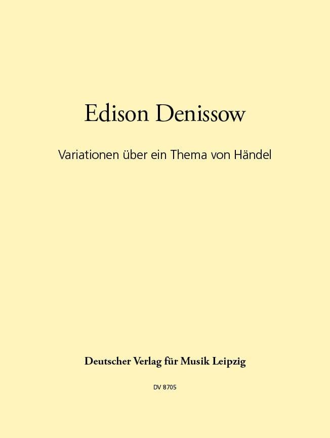 Variations sur un thème de Haendel - Edison Denisov - laflutedepan.com