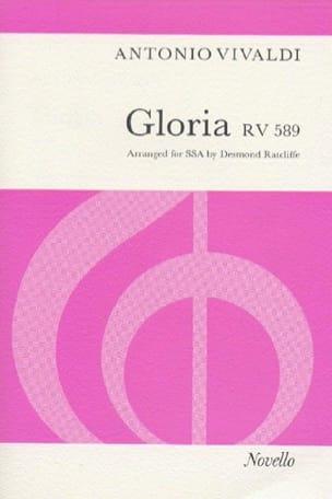 Gloria RV 589 SSA VIVALDI Partition Chœur - laflutedepan