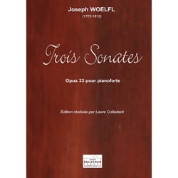 3 sonates Opus 33 - Joseph Woelfl - Partition - laflutedepan.com
