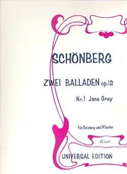 2 Ballades Op. 12-1 SCHOENBERG Partition Mélodies - laflutedepan