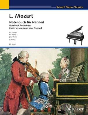 Notenbuch für Nannerl Leopold Mozart Partition Piano - laflutedepan