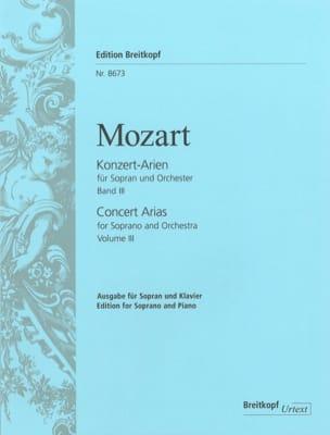 MOZART - Konzert Arien Soprano Volume 3 - Partition - di-arezzo.co.uk