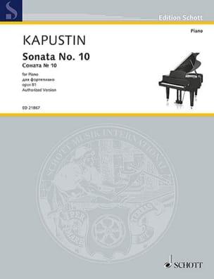 Sonate pour Piano n° 10 Opus 81 Nikolai Kapustin laflutedepan