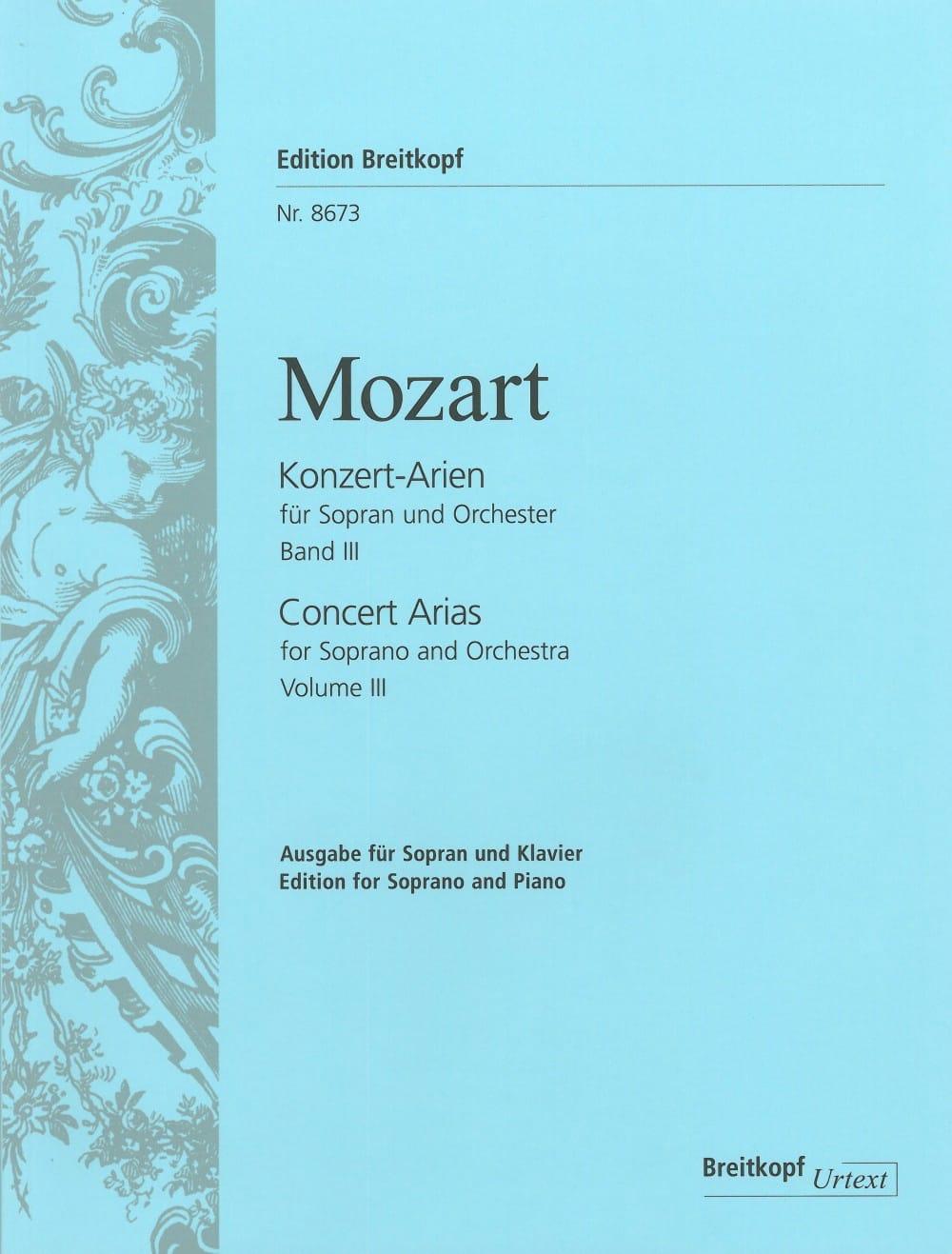 Airs de Concert pour Soprano. Volume 3 - MOZART - laflutedepan.com