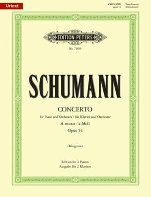 Concerto Pour Piano En La Mineur op 54 SCHUMANN laflutedepan