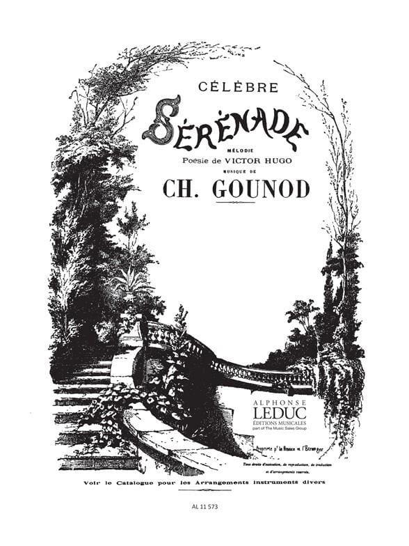 Sérénade. Voix Moyenne - GOUNOD - Partition - laflutedepan.com