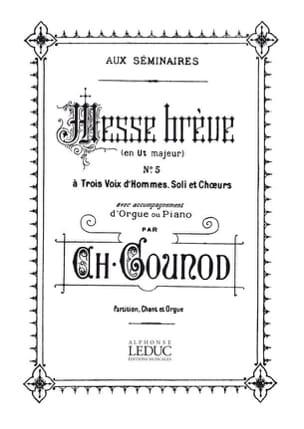Messe Brève N°5 Ut Majeur - GOUNOD - Partition - laflutedepan.com