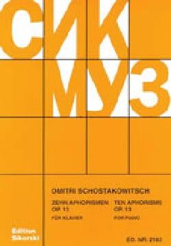 10 Aphorismes op. 13 CHOSTAKOVITCH Partition Piano - laflutedepan