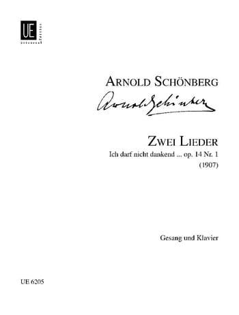 2 Lieder Op. 14-1 - SCHOENBERG - Partition - laflutedepan.com