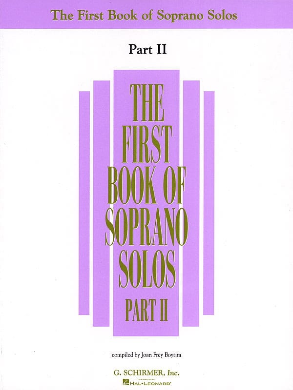 The First Book Of Soprano Solos - Part 2 - laflutedepan.com