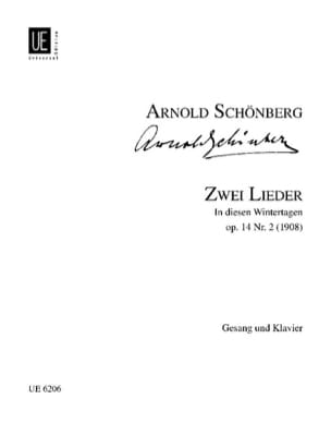 2 Lieder Op. 14-2 SCHOENBERG Partition Mélodies - laflutedepan