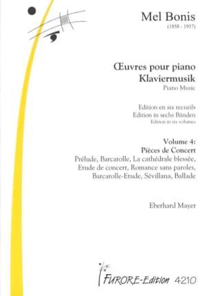 Oeuvres Pour Piano Volume 4 : Pièces de Concert Mel Bonis laflutedepan