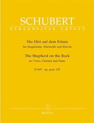 SCHUBERT - Der Hirt Auf Dem Felsen. D 965. Opus Posth 129 - Partition - di-arezzo.es