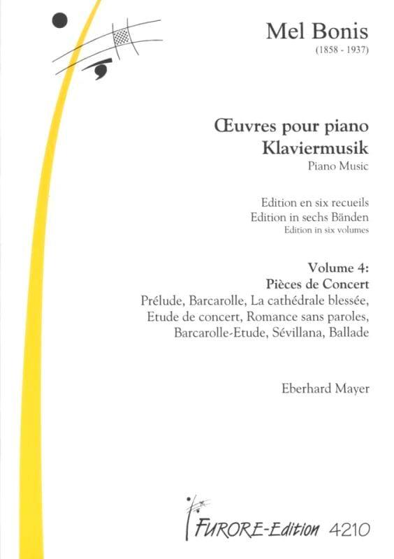 Oeuvres Pour Piano Volume 4 : Pièces de Concert - laflutedepan.com