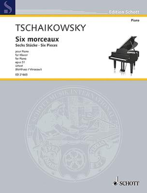 6 morceaux Opus 51 TCHAIKOVSKY Partition Piano - laflutedepan