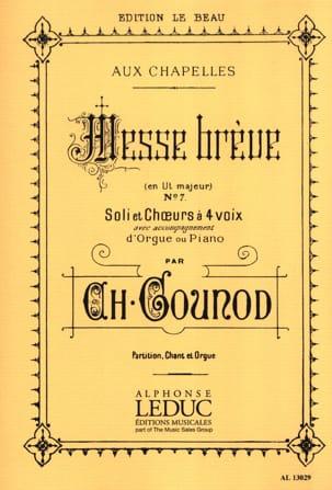 Messe Brève Aux Chapelles N°7 GOUNOD Partition Chœur - laflutedepan