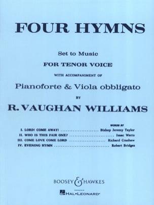 4 Hymns WILLIAMS VAUGHAN Partition Alto - laflutedepan