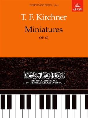 Miniatures Opus 62 Theodor Kirchner Partition Piano - laflutedepan