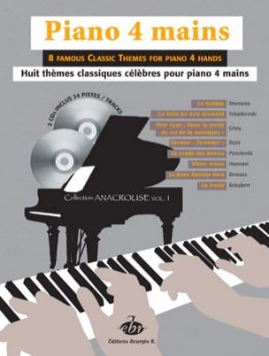 8 Thèmes Classiques Volume 1. 4 Mains + 2 CD Partition laflutedepan